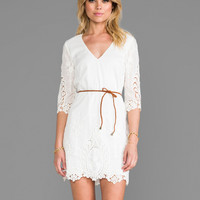 Dolce Vita Acacia Dress in White & Natural