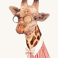 """Giraffe"" - Art Print by Animal Crew"