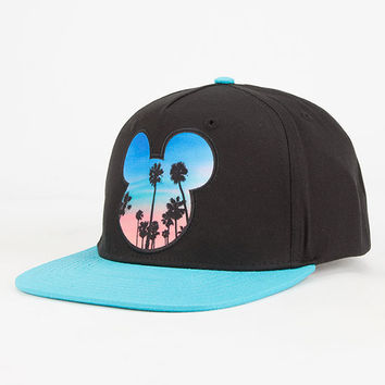 Neff Disney Collection Palms Mickey Prime Boys Snapback Hat Black One Size For Women 27249010001