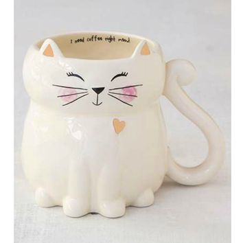 Natural Life Folk Mug - Cat