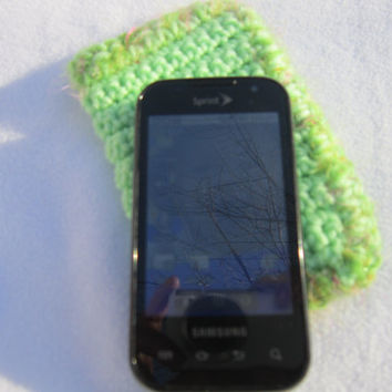 Light Green Crochet Cell Phone Case