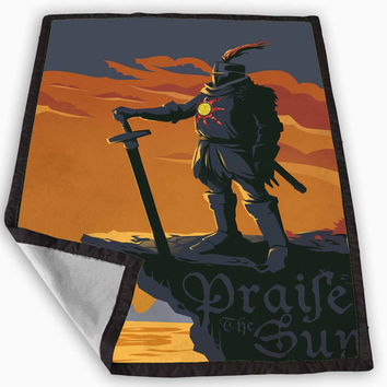 Dark Souls Solaire of Astora Sparkly Blanket for Kids Blanket, Fleece Blanket Cute and Awesome Blanket for your bedding, Blanket fleece **