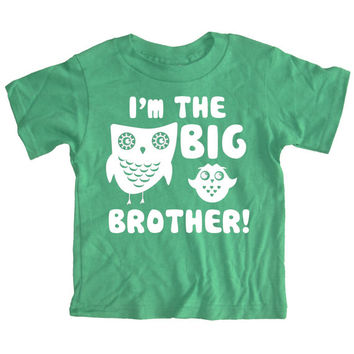 NEW - I'm The Big Brother Boys Green Short Sleeve T-Shirt