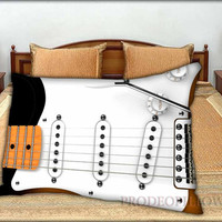 """Guitar Vintage Fender Stratocaster - 20 """" x 30 """" inch,Pillow Case and Pillow Cover."""