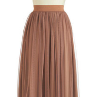 Hazelnut Coffee Skirt | Mod Retro Vintage Skirts | ModCloth.com