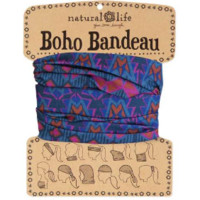 Boho Bandeau - Grey, Rust & Purple Geometric