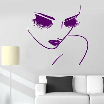 Vinyl Decal Barber Hairdresser Beauty Salon Woman Fashion Stylist Makeup Artist Stickers Unique Gift (685ig)
