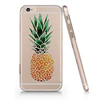 Pineapple Clear Transparent Plastic Phone Case for iphone 6 PLUS 6s PLUS _ SUPERTRAMPshop