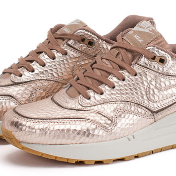 "Bows & Arrows - Women's Air Max 1 ""Cut Out"" Premium (Metallic/Red Bronze)"