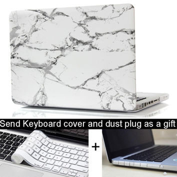 Marble Texture Case For Apple macbook 11 12 13 15 Pro with Retina laptop Protector For Mac book 13.3 15.4 inch keyboard cover
