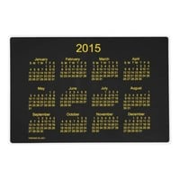 2015 Calendar by Janz Laminated Neon Yellow 12x18