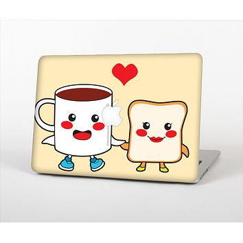 The Cute Toast & Mug Breakfast Couple Skin Set for the Apple MacBook Pro 15""