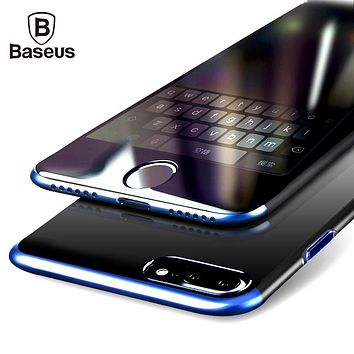 Baseus PC Hard Case iPhone Cover Anti-scratch Electroplating Protective Phone Bag Shell