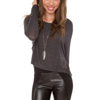 Campfire Kisses Top - Charcoal