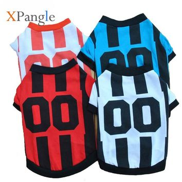 XPangle Pet Dog T Shirt Football Team Dog Jersey for Small Large Dogs Sports Pet Clothes Costume Vest Coat