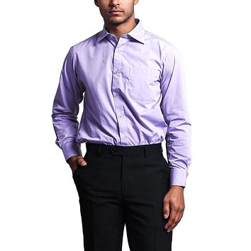 Regular Fit Long Sleeve Dress Shirt - Lavender