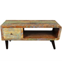 Porter Route 66 Reclaimed Wood Mid-century Modern Coffee Table with Storage Drawer (India) | Overstock.com Shopping - The Best Deals on Coffee, Sofa & End Tables