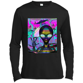 Space Alien EDM Rave  UFO Forbidden Kingdom Sythfire Long Sleeve Moisture Absorbing Shirt
