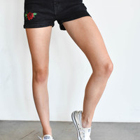 """Rose Bud"" Denim Shorts"