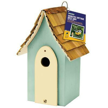 Country Cottage Nest Box Green