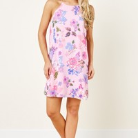 Everly Petal Talk Pink Print Dress