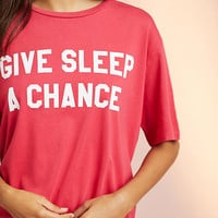 Sleepy Jones Give Sleep A Chance Tee