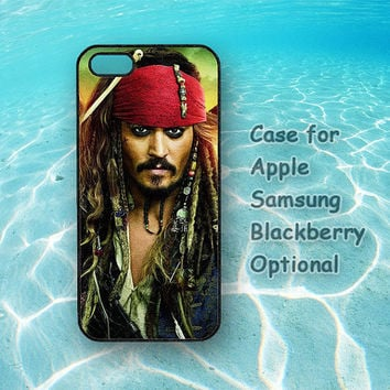 Johnny Depp Pirates Cover iPhone, iPod, Samsung Galaxy, Sony, HTC, Blacberry Case