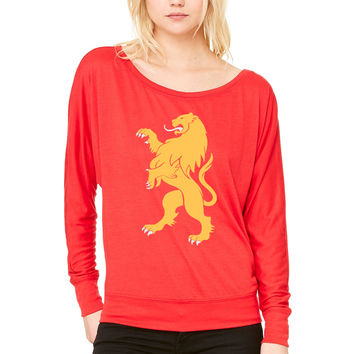 Game of Thrones Lannister WOMEN'S FLOWY LONG SLEEVE OFF SHOULDER TEE