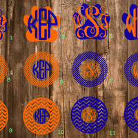 "FREE SHIPPING | Custom Personalized 5"" Auburn Monogram 