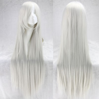 !WIGS 100 Cm Harajuku Anime Cosplay Wig Long Costume Party Blonde Straight Synthetic Hair Wigs Female Women y Alternative Measures