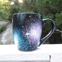 Hand painted 15oz galaxy mug