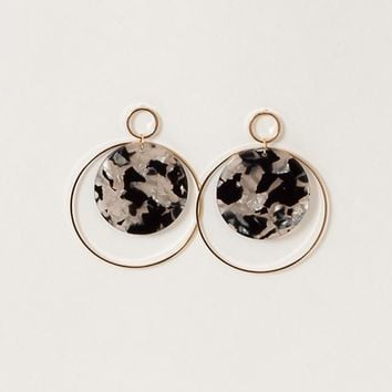 Lucite Double Circle Earrings
