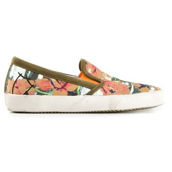 Philippe Model floral print slip-on sneakers