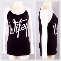 WIFEY black and white long sleeved tee | Royce Clothing