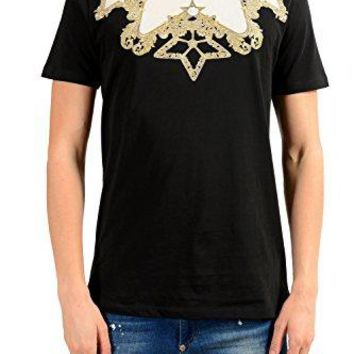 Versace Collection Black Graphic Print T-Shirt