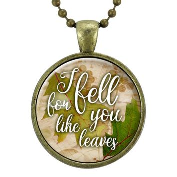 Fall Jewelry Gift For Her, Girlfriend Gift, Anniversary Gift, Autumn Pendant Necklace