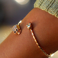 Skull Ends Bracelet | Edgy Bracelets at Pink Ice