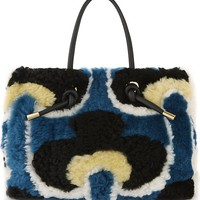 MARNI - Patterned shearling tote | Selfridges.com