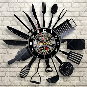 Antique Style  Cutlery Wall Clock