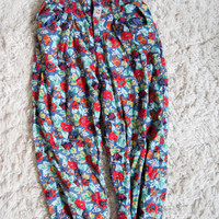 High Waisted Floral 90's FUN Pants