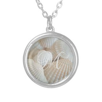 White Beach Shells Summer Tropical Exotic Silver Plated Necklace