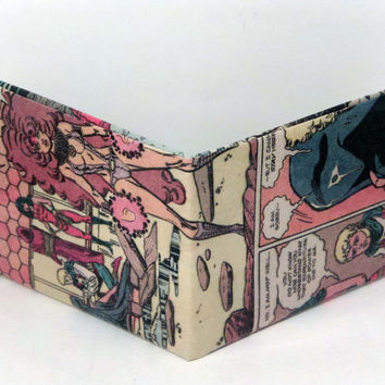 Comic Book Wallet// Teen Titans// Starfire, Wonder Girl, Raven, and Jericho
