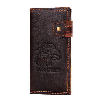 Genuine leather men wallets purse long leather mens wallet genuine wallet man with coin pocket men wallets male clutch purse W63
