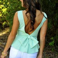 Forever And Always Top: Mint Green | Hope's