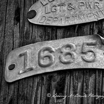 urban, city, wood and metal, art photo, light and power, urban decor, metal, wood, rustic, numbers, letters, architectural, 1 6 85