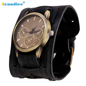 Milk New Style watch Big Wide Leather Cuff Men Cool Wrist Watches Bangle Relogio Bracelet Women Men Relojes 17mar25