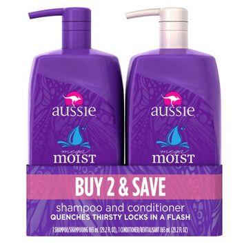 Aussie Mega Moist Shampoo and Conditioner Dual Pack - Walmart.com