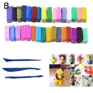 32 Colour 5 Tools Polymer Oven Bake Clay Block Modelling Moulding Sculpey Tool Set DIY Craft Kid Child Baby Toy Gift