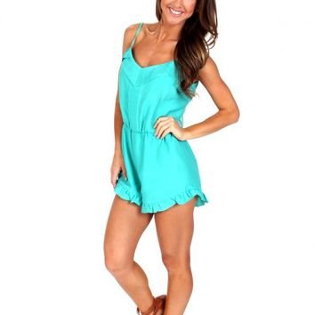 Catch The Wind Teal Romper | Monday Dress Boutique