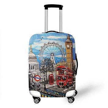 3D Print Unique Scenery High Elastic Luggage Protective Travel Accessories for 18-28 inch Suitcase Fashion Suitcase Covers